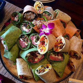 A few of our lunch wraps for today's Hac