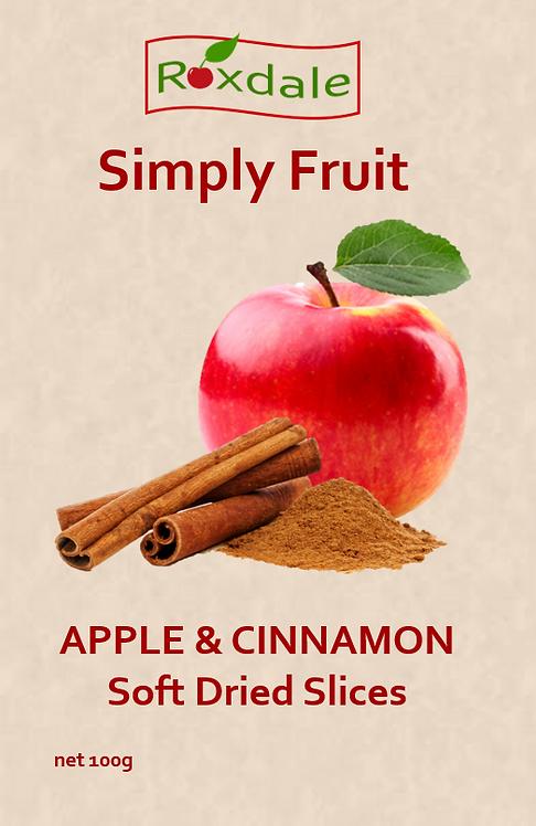 Soft-Dried Apple & Cinnamon Slices (5x100g)