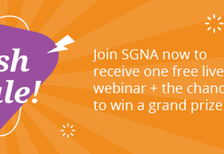 SGNA-Join or renew membership Oct. 13-15 and receive a free webinar and chance to win Annual Course!