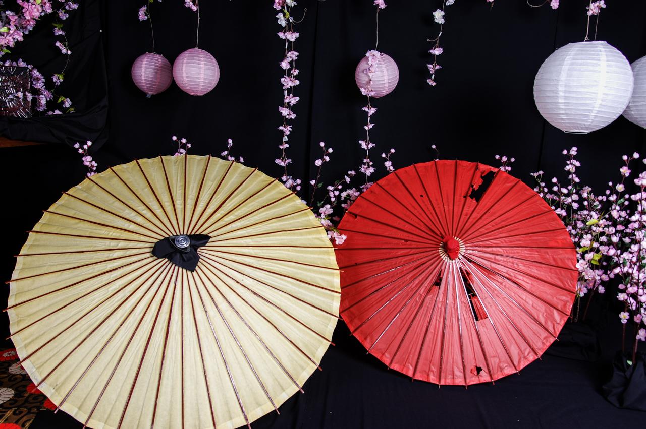 番傘(白・赤)