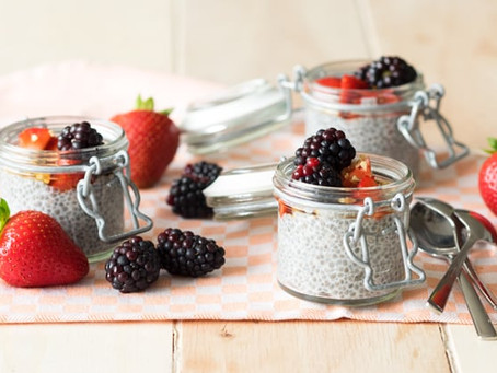 Overnight Chia Seed Pudding with Almond Milk (Vegan and Gluten-free)