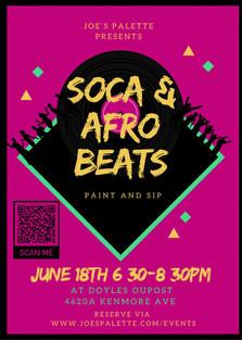 SOCA N AFRO BEATS Paint Night