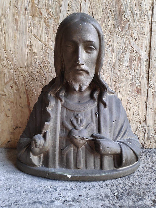Large Sacred Heart Religious Bust