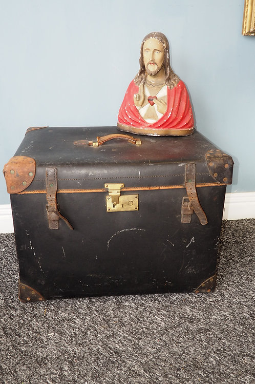 C.1890 Early 19th Century Travel Trunk Luggage Case By F. Best London.
