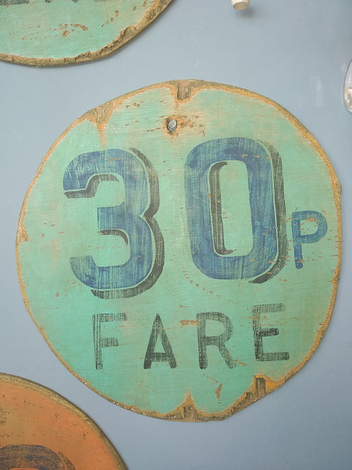 Hand Painted Fairground Advertising Sign