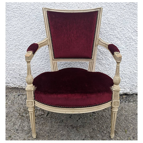 French style red vintage chair