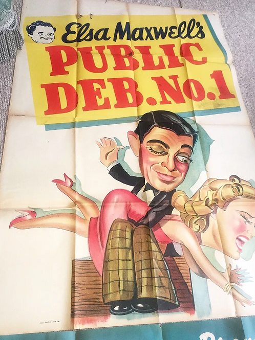 C.1940s Large Public Deb. No 1 Cinema Poster