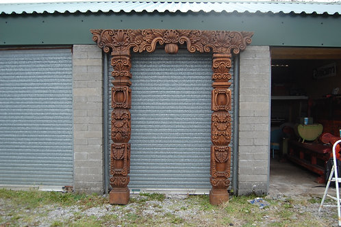 XL Indonesian Carved Arch Way - 2.4m x 2.3m