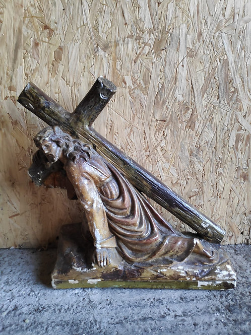 Large Christ Carrying Cross Statue
