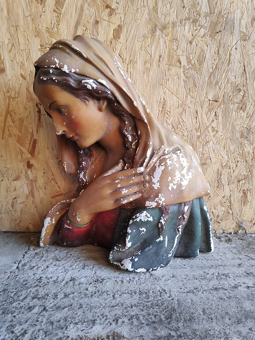 Large Virgin Mary Flat Back Bust