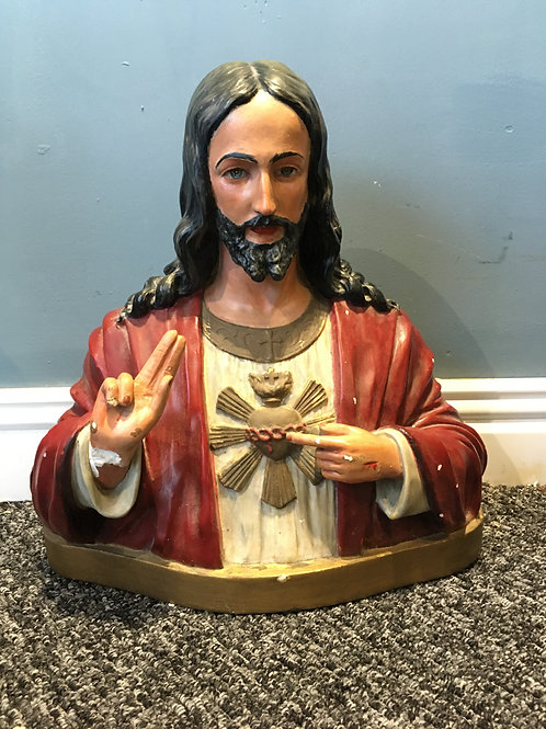 Sacred Heart Antique Religious Bust