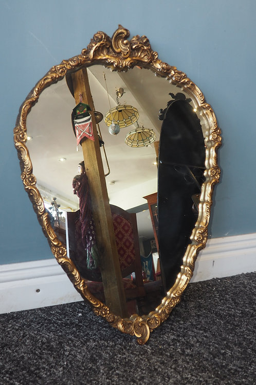 Vintage Ornate Gold Gilt Mirror