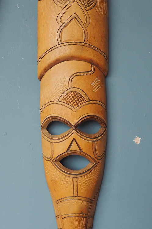 Long Carved African Tribal Mask