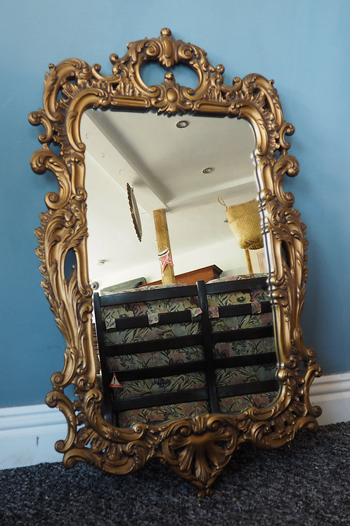 Rococo Style Ornate Antique Gold Mirror