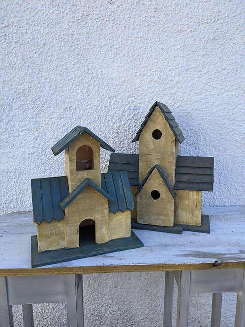 Wooden Scandi Style Bird House