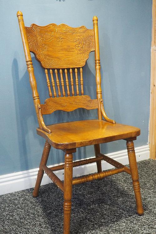 Vintage Carved Kitchen Chair