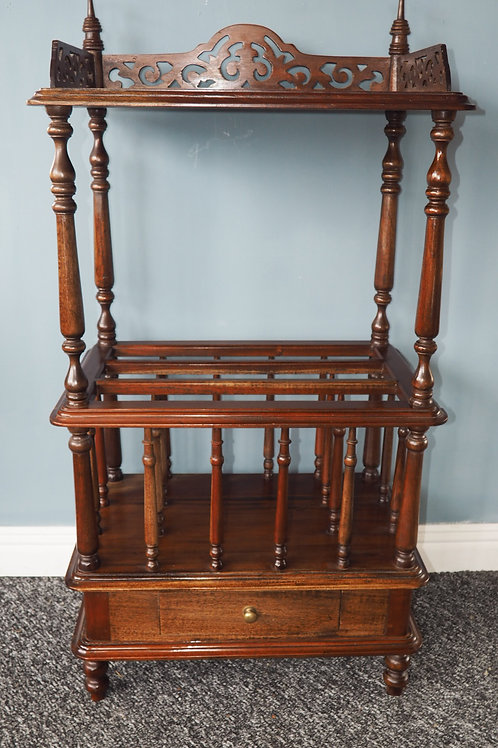 Mahogany Canterbury With Gallery Top