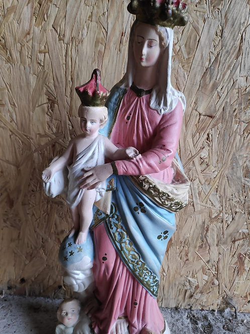 Virgin Mary and Child Religious Statue