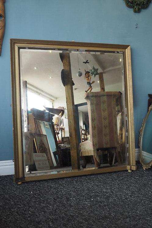 19th Century Antique Gold Gilt Overmantle Mirror