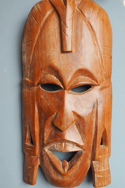 Carved African Wooden Tribal Mask