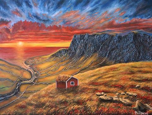 Norway Lofoten painting
