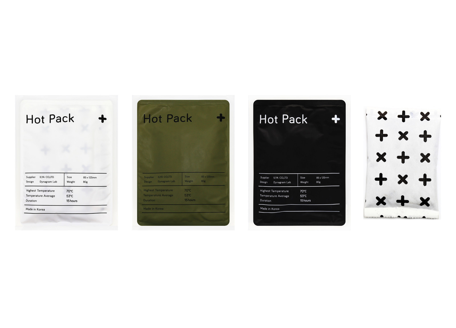 Three types of hot packs have been released