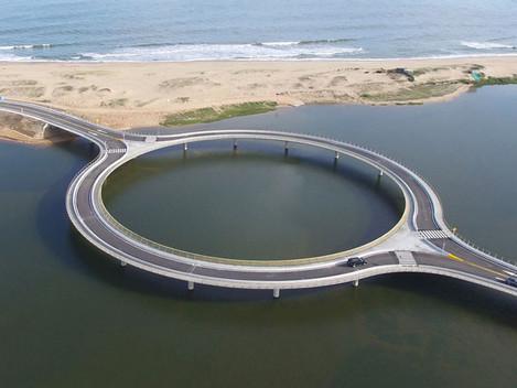 Conheça a ponte rotatória localizada na costa Sul do Uruguai