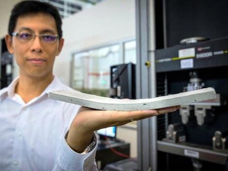Engenheiros de Singapura estão desenvolvendo um concreto ultra flexível