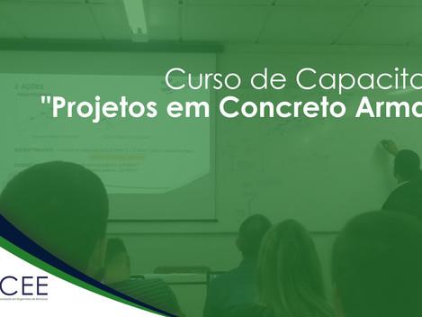 """Inscrições abertas para os três módulos do curso """"Projetos em Concreto Armado"""" do NCEE"""