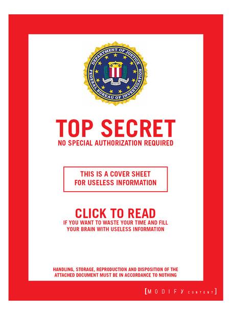 FBI - TOP SECRET-ISH