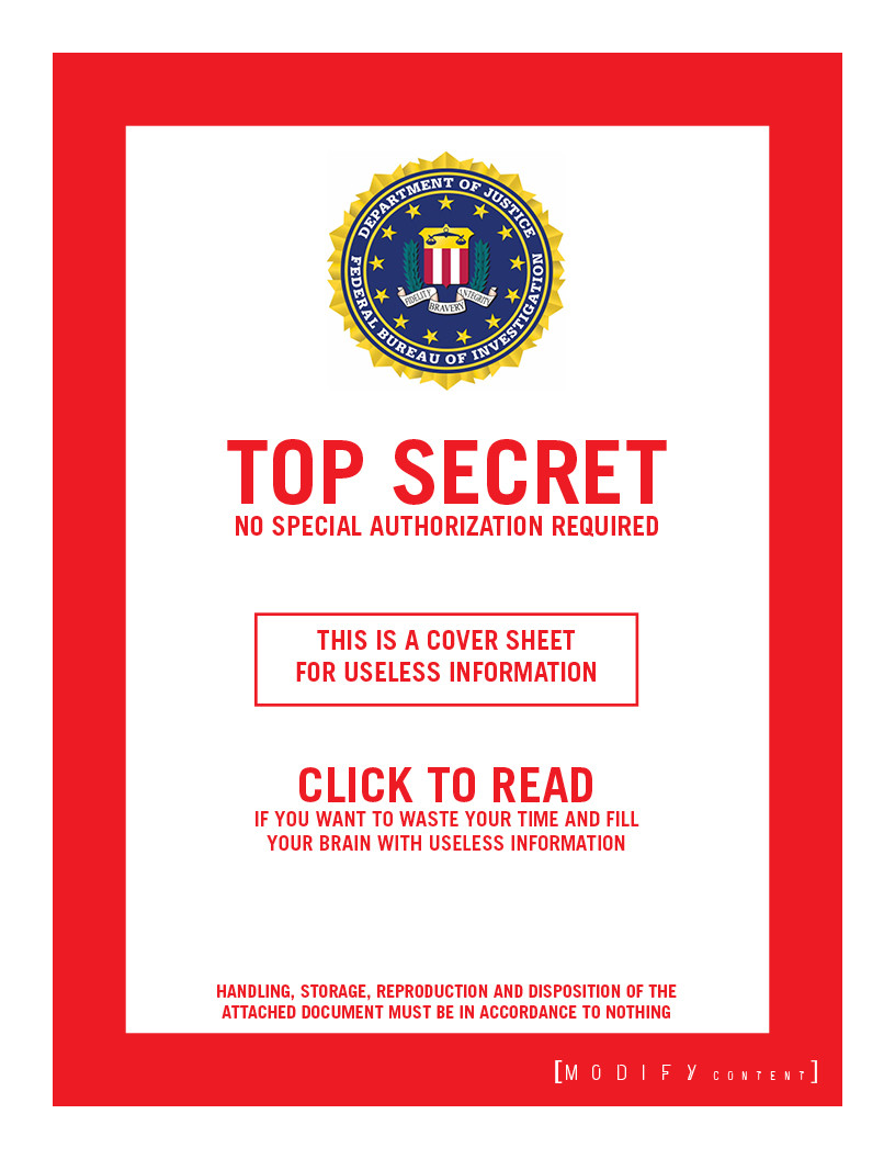 FBI TOP SECRET-ISH
