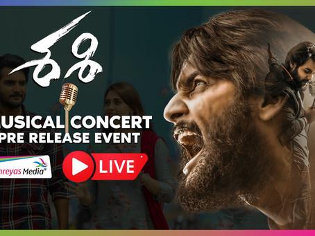 Watch Sashi Musical Concert Pre Release Event LIVE | Aadi | Surbhi Puranik | Shreyas Media