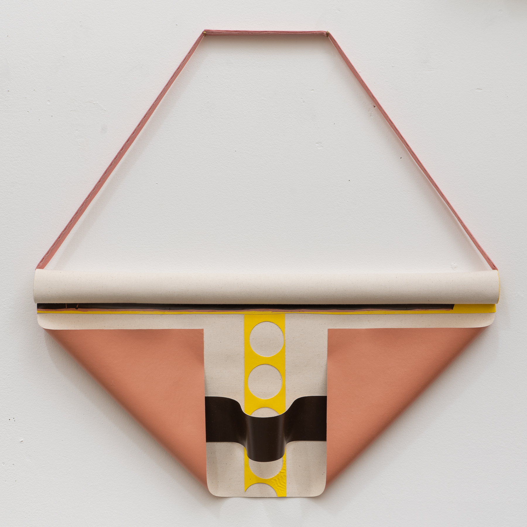 "untitled, 2019, enamel on canvas, 19""x20"