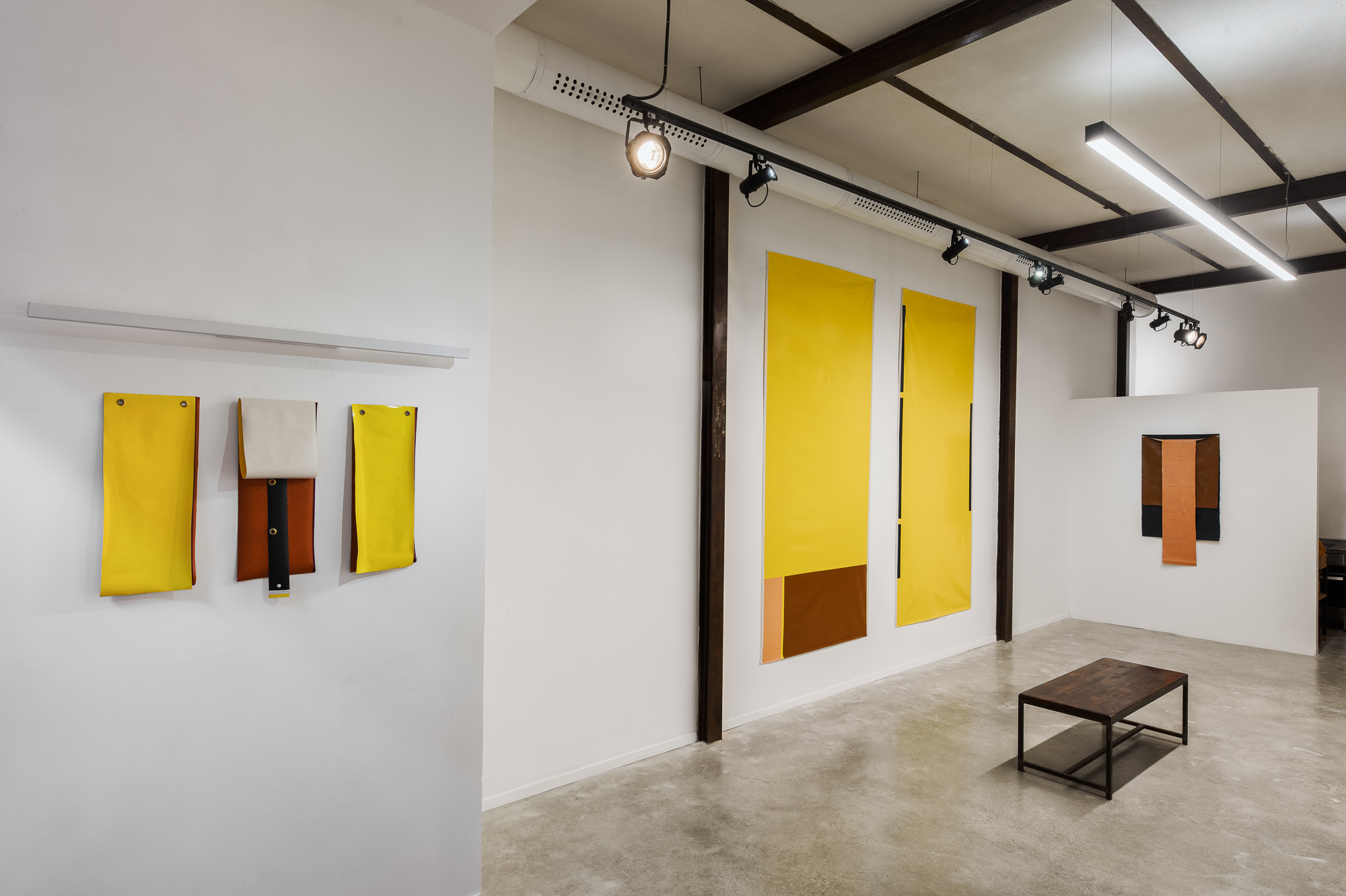 Three Across, Almacen, Jaffa, May 2020, curator- Orit Bulgaru, installation view