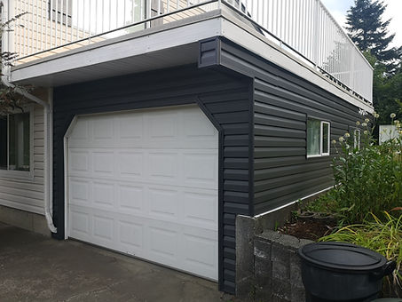 garage exterior after