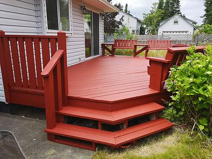 freshly painted deck