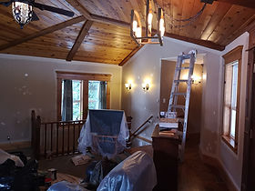 feshly painted home interior
