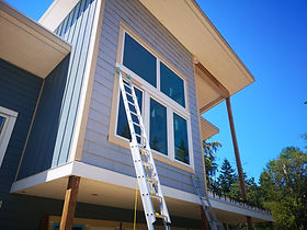 house exterior with ladder