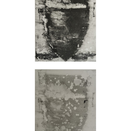 Roman Amphora, (II Top and I bottom) monotype diptych