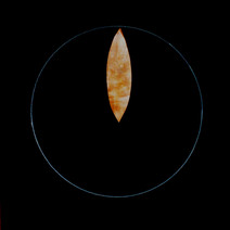 Venus transiting over Mars, from 'Celestial bodies' series