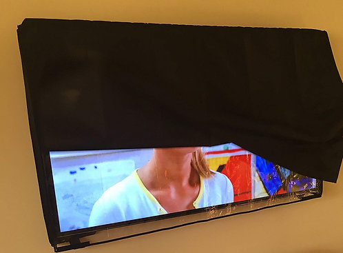 65'' Flat Screen TV - Clear Transparent Waterproof OUTDOOR TV Black Cover, Heavy