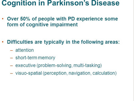 Can There Be Cognitive Impairments in Parkinson's disease (PD)? Yes