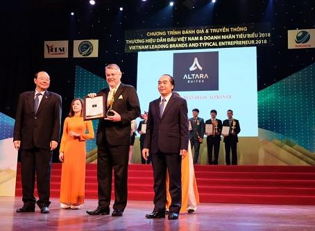 Altara Suites Đà Nẵng lọt top 10 thương hiệu dẫn đầu Việt Nam