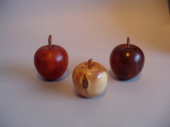 Apples Wood from L to R: Padauk, Yew and Cocobolo £10 each