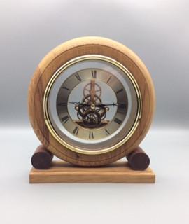 Skeleton Mantle Clock Wood: Oak Size: 9 X 8 Price: £65 (ref.5257)