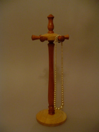 Necklace Stand Wood: Mahogany and Ash Price: £25