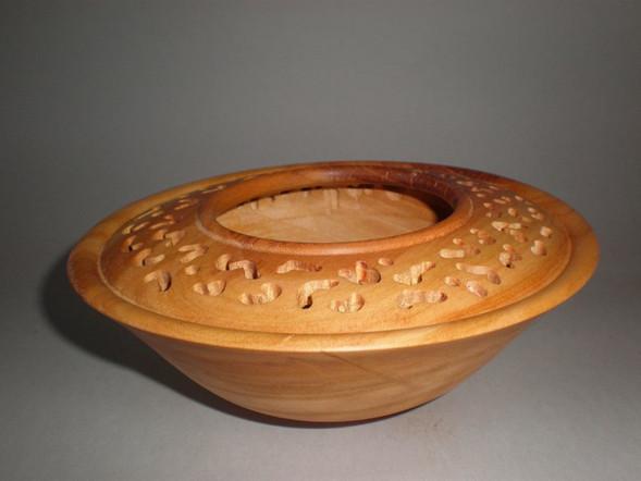 Wood: Pierced Cherry Size: 7 X 3 Price: £40 (ref.4271)