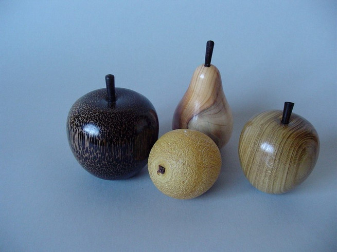 Variety of fruit Woods from L to R: Palmira, Amarello, Yew and Laburnum Price: £10