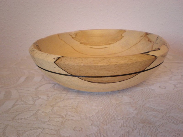 Wood: Spalted Beech Size: 9 X 3 Price: £45 (ref.4684)