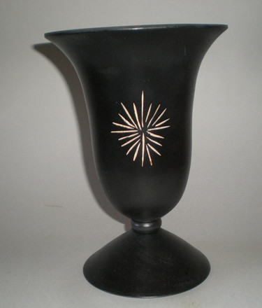 Vase Wood: Black Sycamore Size: 9 X 6 Price: £50 (ref.4277)